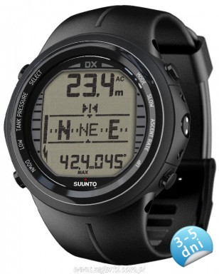 Suunto DX Black elastomer z usb